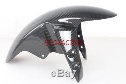 Yamaha R6 05 R1 04 05 06 Fz1 06 Garde-boue Avant En Fibre De Carbone Twill / Garde-boue Avant