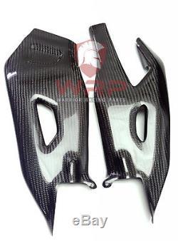 Yamaha Yzf R1 2015 2017 Twill Housses De Bras Oscillant En Fibre De Carbone