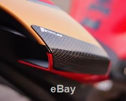 Yamaha Yzf-r1 R1m 2015-2019 Carbon Tail Sliders Protecteurs Strauss Twill Gloss
